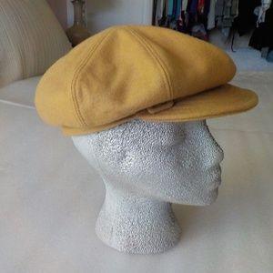 "Beige Wool ""Newsboy"" Cool Hat NWOT"